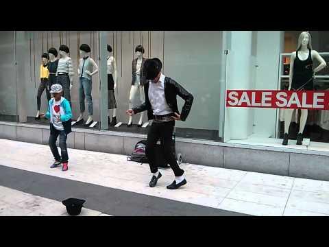 Michael Jackson impersonator in Stockholm