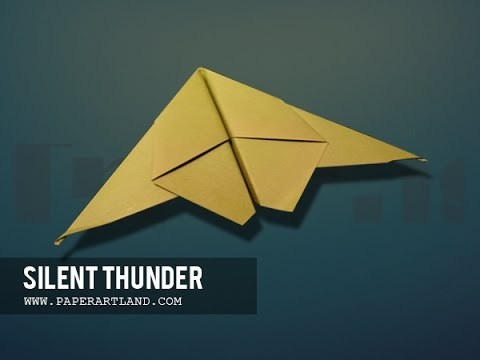 papierflieger selbst basteln papierflugzeug falten beste origami flugzeug silent thunder. Black Bedroom Furniture Sets. Home Design Ideas
