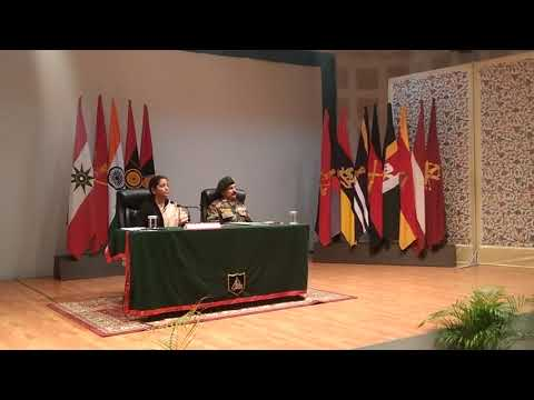Press Conference of Defence Minister of India Nirmala Sitharaman at Army Tiger Division Headquarter