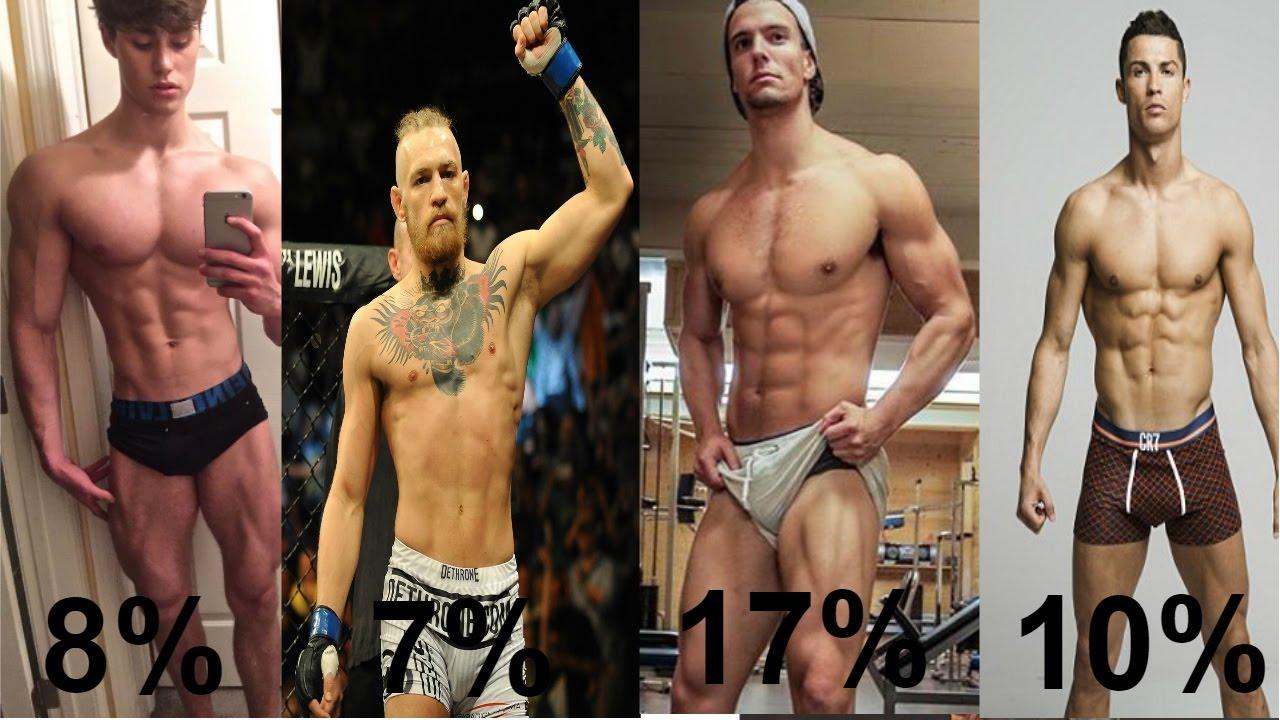 Body fat percentage examples realistic cristiano ronaldo conor mcgregor and more also rh youtube