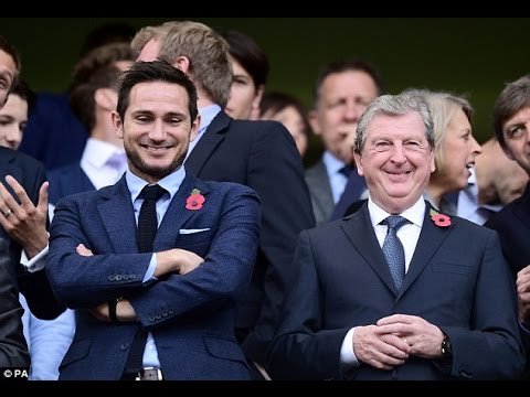 Frank Lampard at Stamford Bridge with dad and Roy Hodgson to watch Chelsea