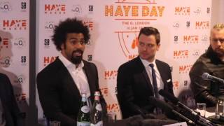 DAVID HAYE - 'KLITSCHKO FACING BIG MOUTH SHOULD BE EXCITING, IF FURY CAN CAN BACK HIS WORDS'