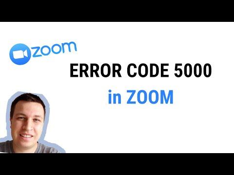 Zoom エラー コード 5003