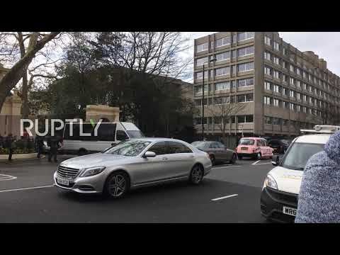UK: Expelled diplomats leave Russian embassy in London
