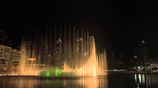 Dubai Mall - The fountain show 2014 in 4K-UHD (Sony FDR-AX100)