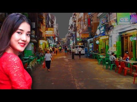 Chinatown at Night in Yangon