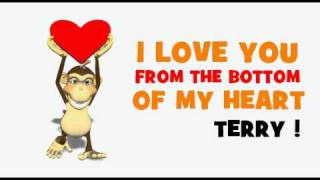 VALENTINE'S DAY = I LOVE YOU TERRY
