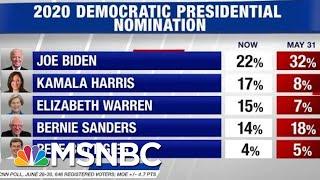 New Poll Shows Joe Biden Plummets, Kamala Harris And Elizabeth Warren Rise   Hardball   Msnbc