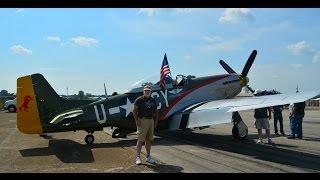 P 51 Mustang Gunfighter flight over 97th Bombardment Wing Blytheville AFB Arkansas