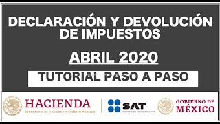 DECLARACIÓN ANUAL 2020  TUTORIAL PASO A PASO PARA DEVOLUCIÓN EN 3 DÍAS.