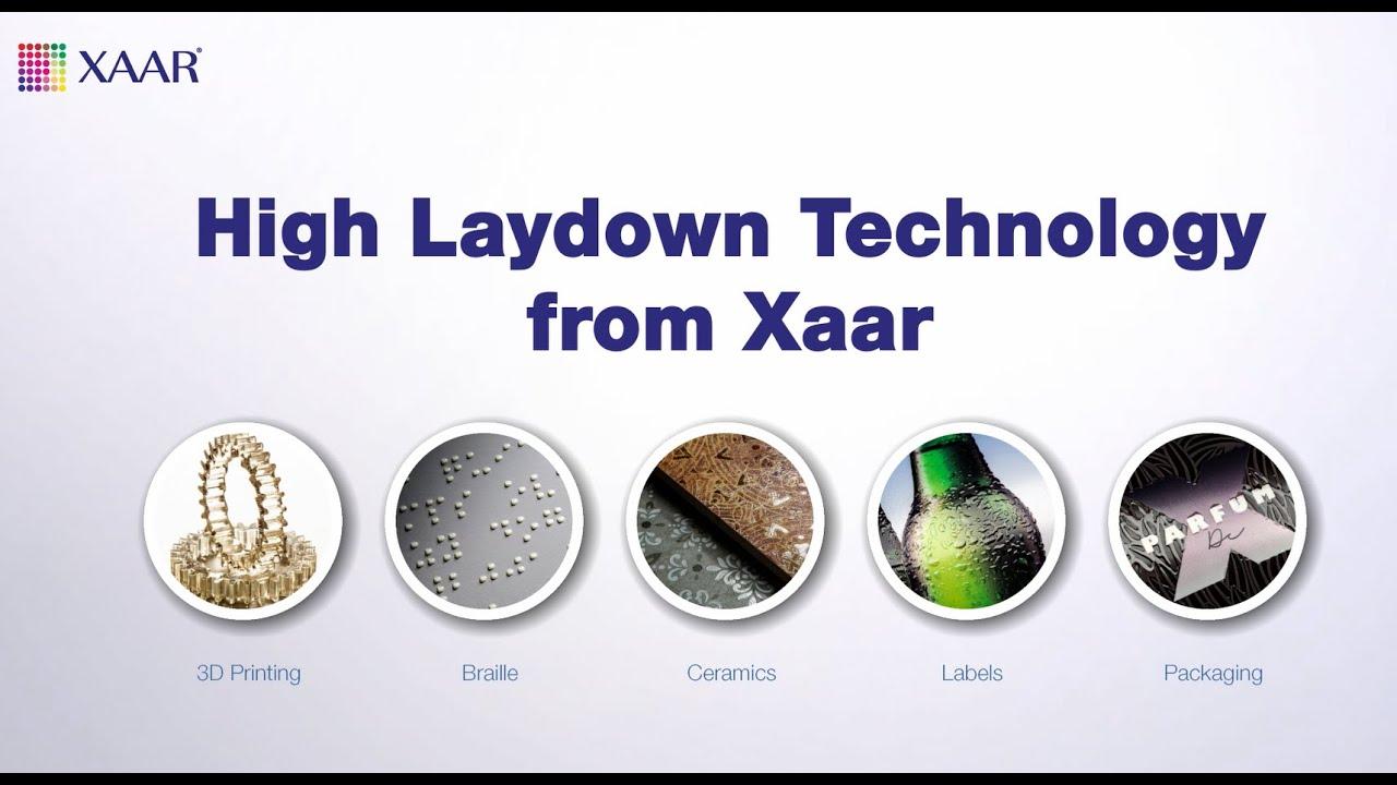 The Xaar 1003 U is Xaar's flagship piezoelectric drop-on