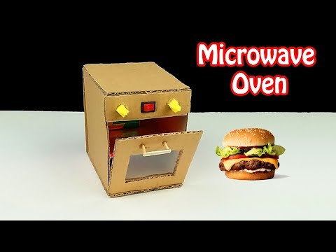 How to make Oven from Cardboard - DIY Toy Microwave Oven