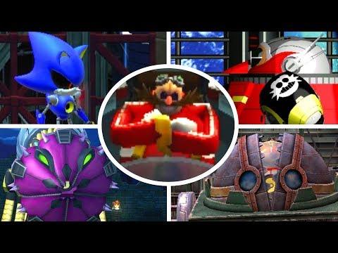 Sonic The Hedgehog 4 Episode 1 \u0026 2 - All Bosses (No Damage)