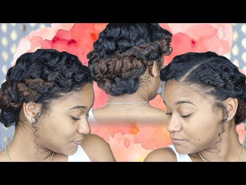 Easy Updo for Curly Hair 2018
