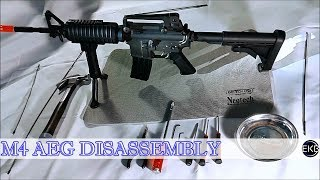 Airsoft   M4 AEG Disassembly