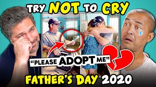 Dads React To Try Not To Cry Challenge (Father's Day 2020)