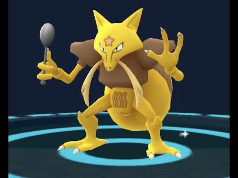 Pokemon GO - Abra evolving into Kadabra