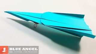SIMPLE PAPER AIRPLANE - How to make a Paper Airplane that FLIES | Blue