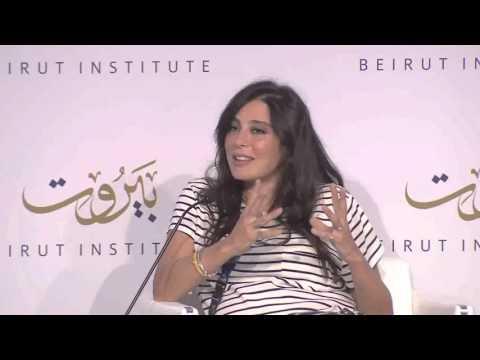 Nadine Labaki and Jehane Noujaim at Beirut Institute Summit in Abu Dhabi