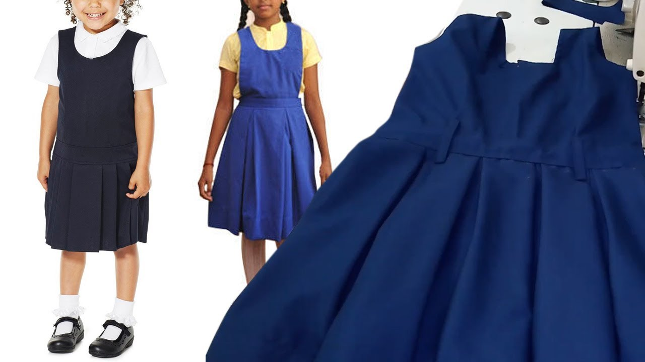 ac720fbe30a7 School Uniform Pinafore Stitching Tailoring Classes Girls School Pinoform  Dress
