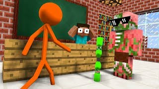 Monster School : AVM SHORTS - STICKMAN & BOTTLE FLIP Challenge - Minecraft Animation