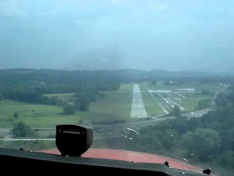 Landing at Sussex County Airport, NJ