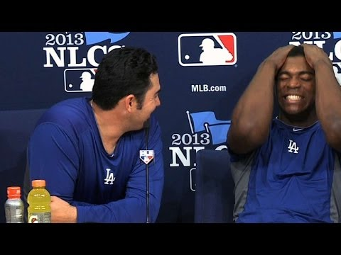 Thumbnail: A-Gon, Puig have fun with media in two languages