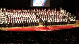 Ohio State Marching Band 2013 Concert Intro Fanfare and Across The Field 11 10 2013