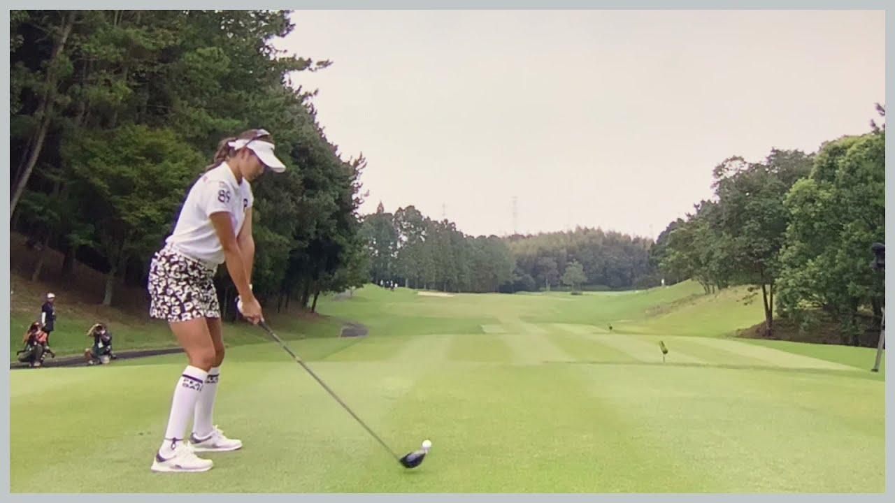 【ゴルフ】 原英莉花 スイング