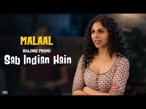 Malaal : Sab Indian Hain (Dialogue Promo 5) | Sharmin Segal | Meezaan | 5th July 2019