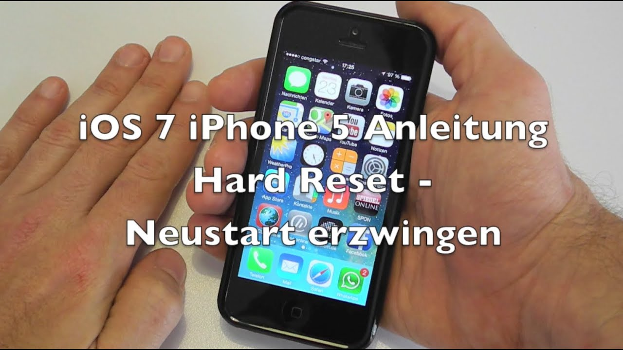 how to master reset iphone 5 ios 7 iphone 5 anleitung reset neustart erzwingen 18922