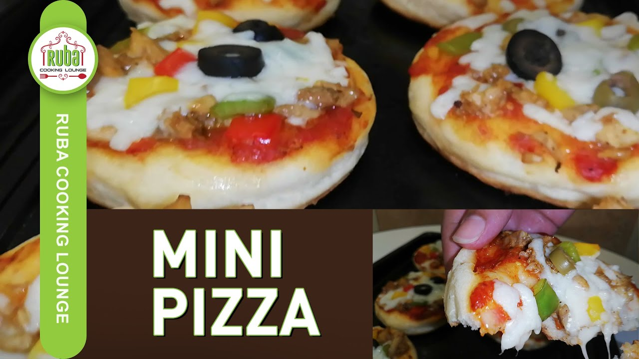 MINI PIZZA | CHICKEN & VEGETABLE MINI PIZZA FOR KIDS | QUICK PIZZA RECIPE BY RUBA COOKING LOUNGE