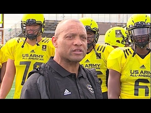 NFL Hall of Fame DB Aeneas Williams Coaching at the US Army All-American Game | 2017