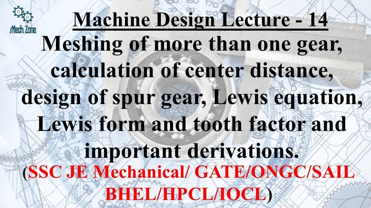 Machine Design Lecture 14: - YouTube