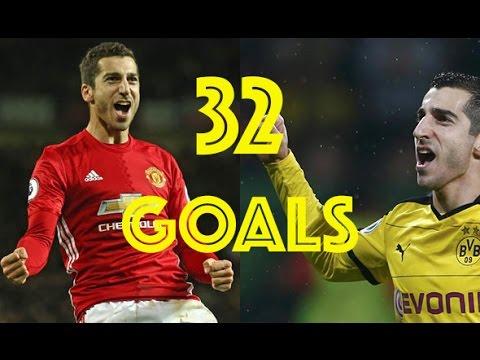 Henrikh Mkhitaryan All 32 Goals Borussia Dortmund \u0026 Manchester United