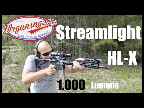 Streamlight Rail Mount HL-X 1,000 Lumen Weapon Light Review (HD)