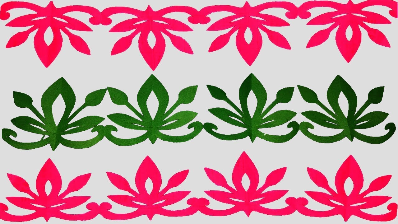 Paper Border How To Make Paper Cutting Border Designs Easy Paper