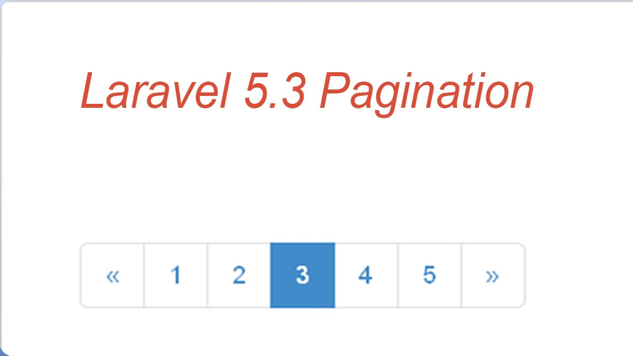 laravel 5 3 pagination with bootstrap