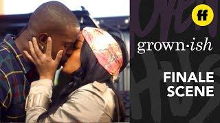 grown-ish Season 2 Finale   Zoey & Aaron Kiss   Freeform