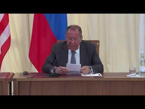 Пресс-конференция С.Лаврова и М.Помпео, Сочи, 14 мая 2019 года