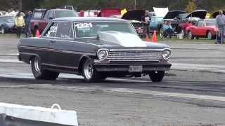 1963 Chevy Nova Duece Rips A Giant WHEELIE @ The Dragstrip!!