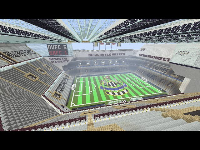 Newcastle fan painstakingly recreates st james park in minecraft sciox Gallery