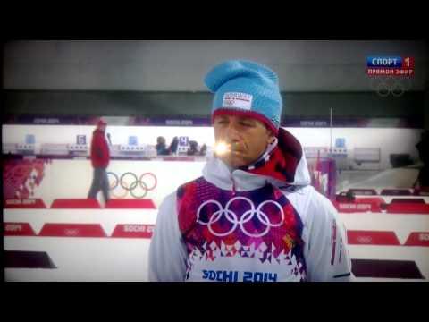 Ole Einar Bjoerndalen Gold medal, Sochi2014 (Flower Ceremony)