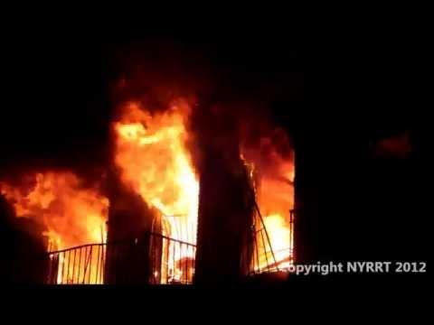 FDNY 9/3/2012 Brooklyn, NY 4 Alarm Fire at 1365 Carroll St.