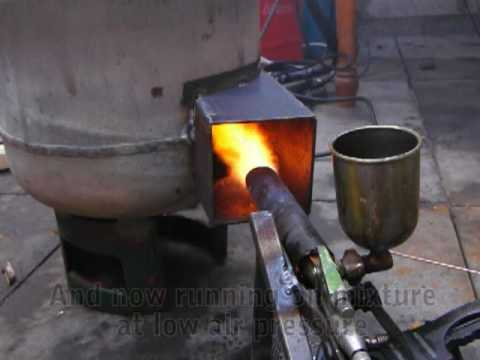 Waste oil burner heater