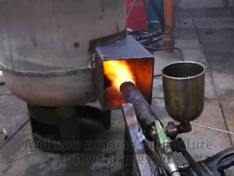 Waste oil burner heater