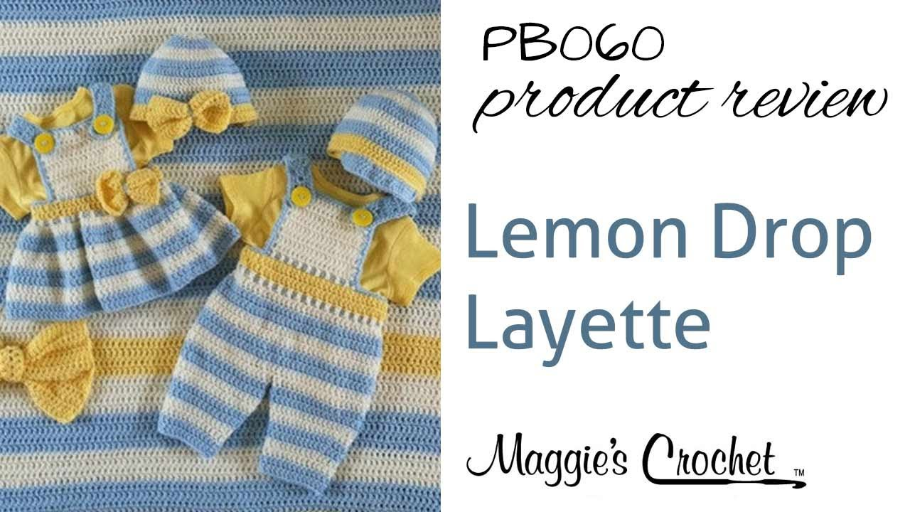 Lemon Drop Layette Crochet Pattern Product Review PB060 - YouTube