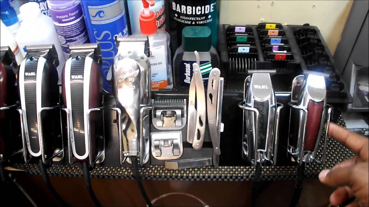 Barber Clipper Rack