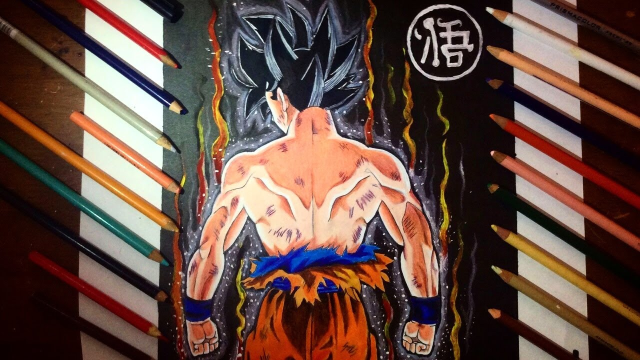 Dibujo de GOKU Limit Breaker Nueva Transformacin  Drawing GOKU