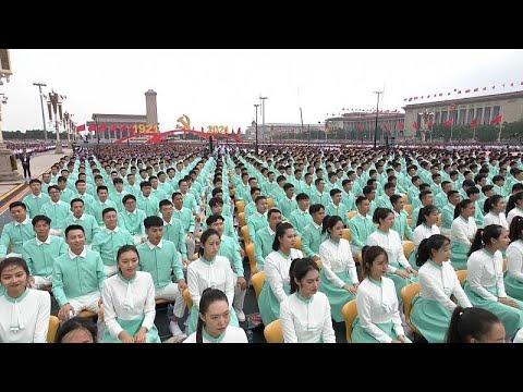 شاهد: مئة ألف حمامة بيضاء وطائرات مقاتلة في مئوية الحزب الشيوعي الصيني…